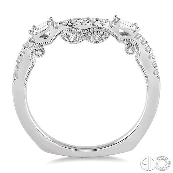 1/3 Ctw Round Cut Diamond Wedding Band in 14K White Gold Image 3 Coughlin Jewelers St. Clair, MI