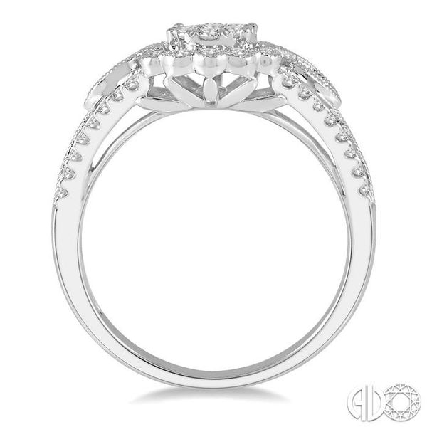 3/4 Ctw Diamond Lovebright Engagement Ring in 14K White Gold Image 3 Coughlin Jewelers St. Clair, MI