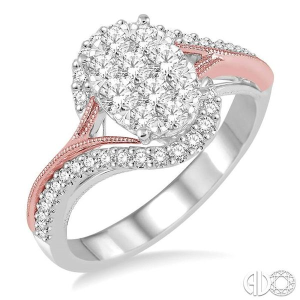 3/4 Ctw Diamond Lovebright Ring in 14K White and Rose Gold Coughlin Jewelers St. Clair, MI
