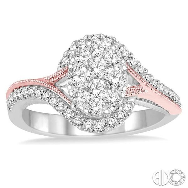 3/4 Ctw Diamond Lovebright Ring in 14K White and Rose Gold Image 2 Coughlin Jewelers St. Clair, MI