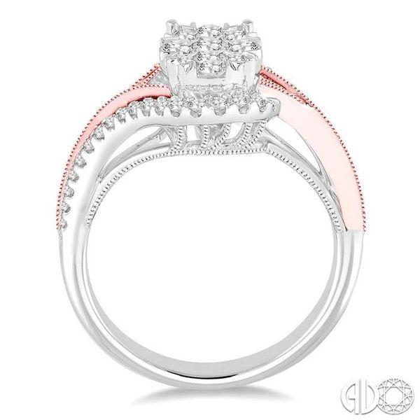 3/4 Ctw Diamond Lovebright Ring in 14K White and Rose Gold Image 3 Coughlin Jewelers St. Clair, MI