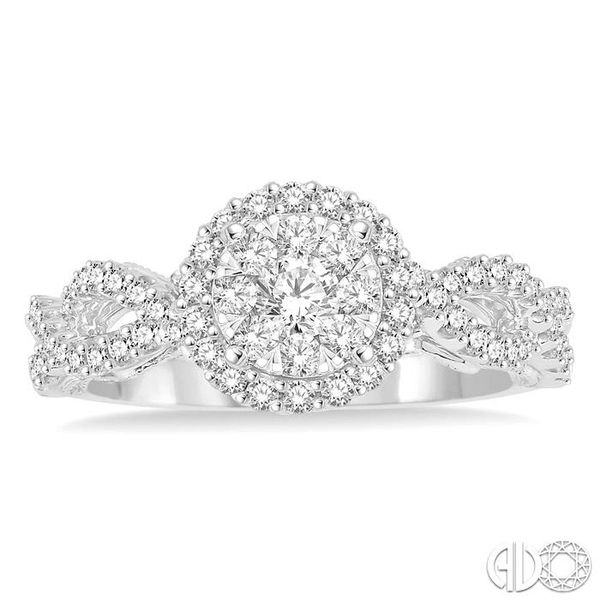 3/4 Ctw Round Cut Diamond Lovebright Ring in 14K White Gold Image 2 Coughlin Jewelers St. Clair, MI