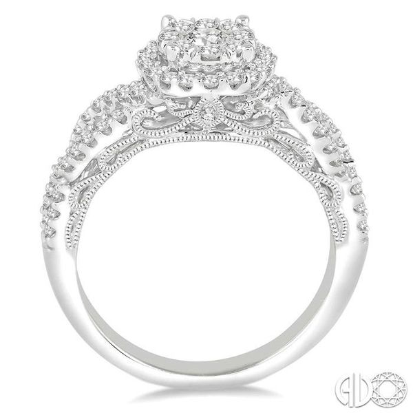 3/4 Ctw Round Cut Diamond Lovebright Ring in 14K White Gold Image 3 Coughlin Jewelers St. Clair, MI