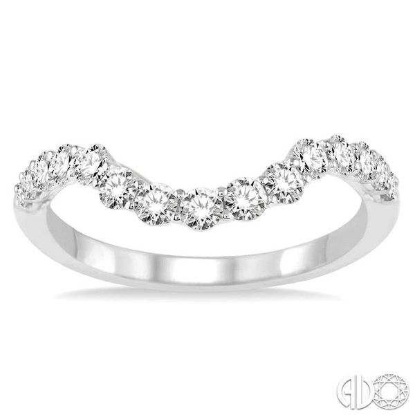 5/8 Ctw Round Cut Diamond Wedding Band in 14K White Gold Image 2 Coughlin Jewelers St. Clair, MI