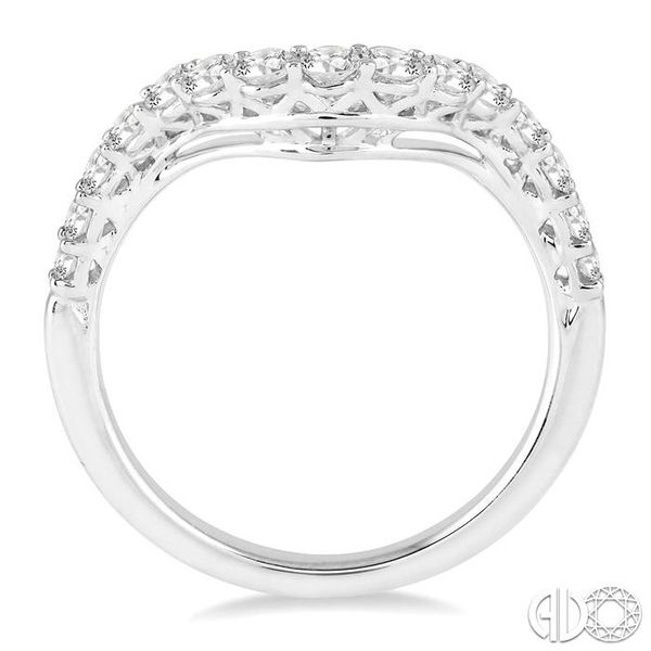 5/8 Ctw Round Cut Diamond Wedding Band in 14K White Gold Image 3 Coughlin Jewelers St. Clair, MI