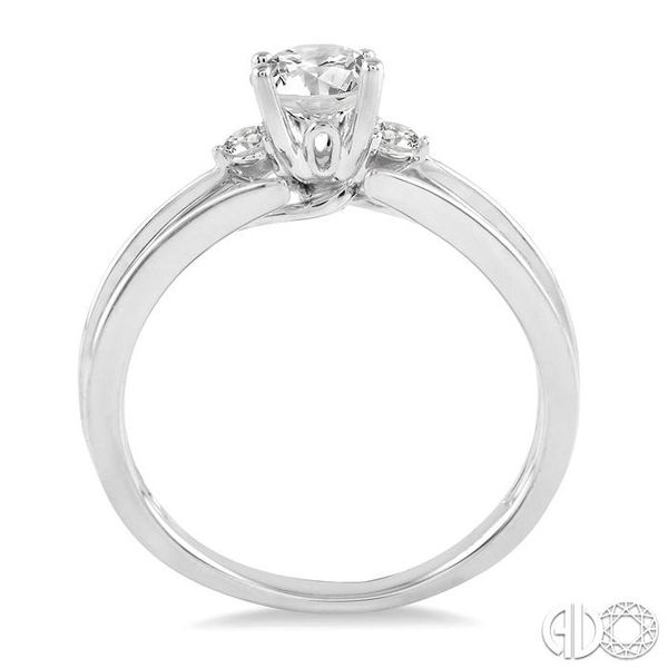 1/3 Ctw Diamond Engagement Ring with 1/3 Ct Round Cut Center Stone in 14K White Gold Image 3 Coughlin Jewelers St. Clair, MI