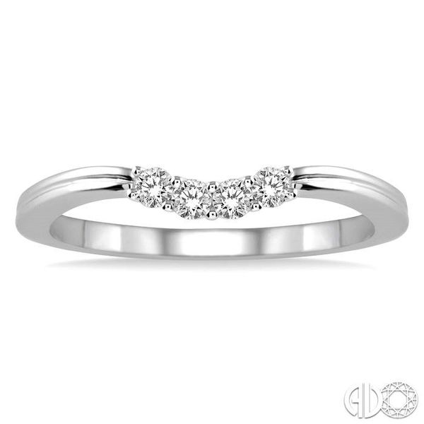 1/6 Ctw Round Cut Diamond Wedding Band in 14K White Gold Image 2 Coughlin Jewelers St. Clair, MI