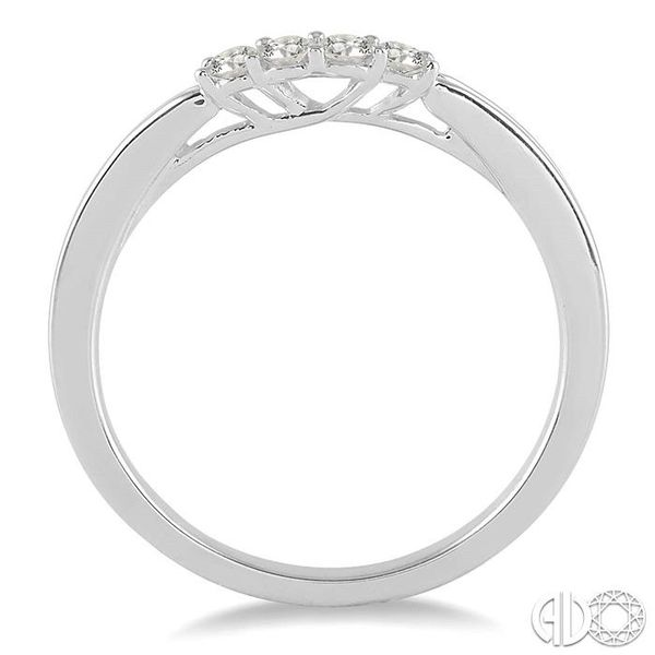 1/6 Ctw Round Cut Diamond Wedding Band in 14K White Gold Image 3 Coughlin Jewelers St. Clair, MI