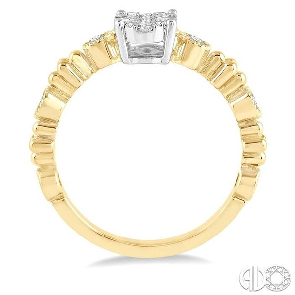 1/3 ct Oval Shape Accentuated Shank Lovebright Diamond Cluster Ring in 14K Yellow and White Gold Image 3 Coughlin Jewelers St. Clair, MI