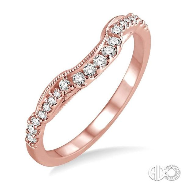 1/6 Ctw Round Cut Diamond Wedding Band in 14K Rose Gold Coughlin Jewelers St. Clair, MI
