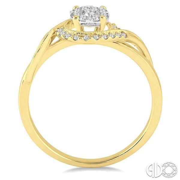 1/3 Ctw Round Cut Diamond Lovebright Engagement Ring in 14K Yellow and White Gold Image 3 Coughlin Jewelers St. Clair, MI