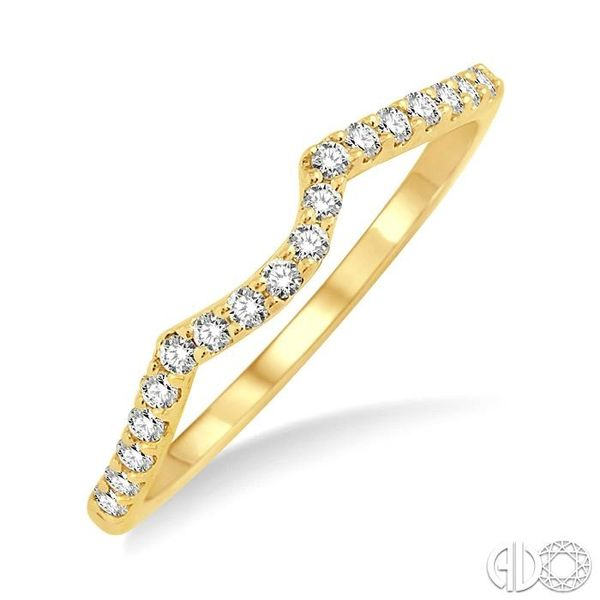 1/5 Ctw Round Cut Diamond Wedding Band in 14K Yellow Gold Coughlin Jewelers St. Clair, MI