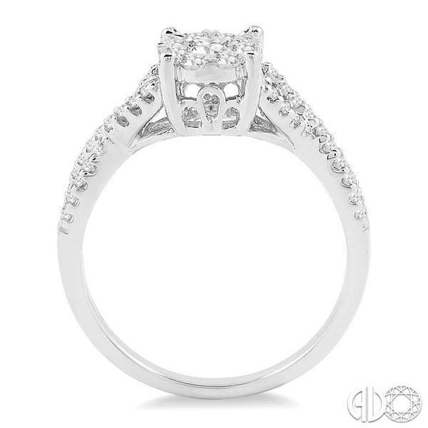 5/8 Ctw Lovebright Round Cut Diamond Engagement Ring in 14K White Gold Image 3 Coughlin Jewelers St. Clair, MI