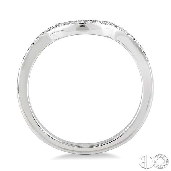 1/10 Ctw Round Cut Diamond Wedding Band in 14K White Gold Image 3 Coughlin Jewelers St. Clair, MI