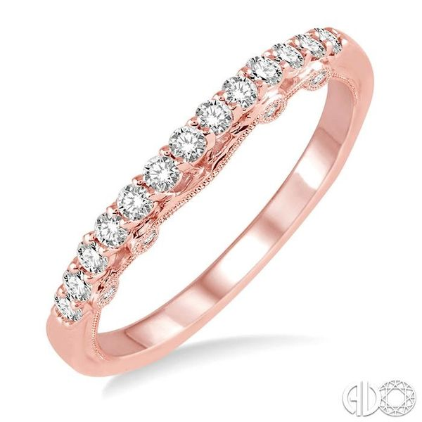 1/3 Ctw Round Cut Diamond Wedding Band in 14K Rose Gold Coughlin Jewelers St. Clair, MI