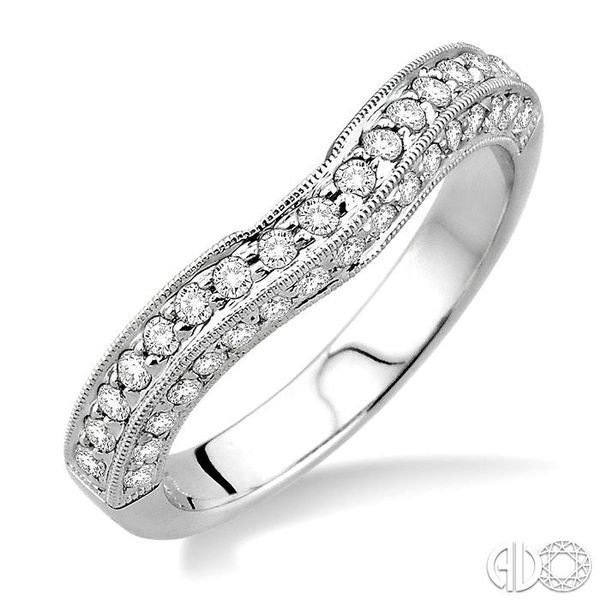 3/8 Ctw Diamond Matching Wedding Band in 14K White Gold Coughlin Jewelers St. Clair, MI