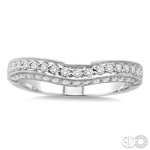 3/8 Ctw Diamond Matching Wedding Band in 14K White Gold Image 2 Coughlin Jewelers St. Clair, MI