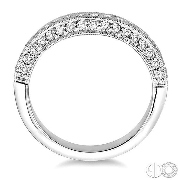 3/8 Ctw Diamond Matching Wedding Band in 14K White Gold Image 3 Coughlin Jewelers St. Clair, MI