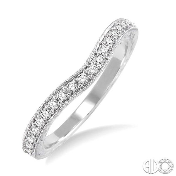 1/4 Ctw Diamond Wedding Band in 14K White Gold Coughlin Jewelers St. Clair, MI