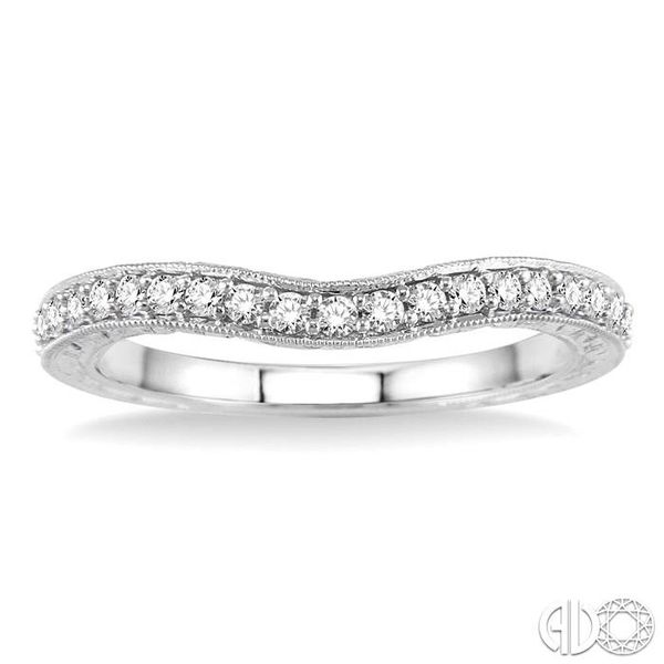 1/4 Ctw Diamond Wedding Band in 14K White Gold Image 2 Coughlin Jewelers St. Clair, MI