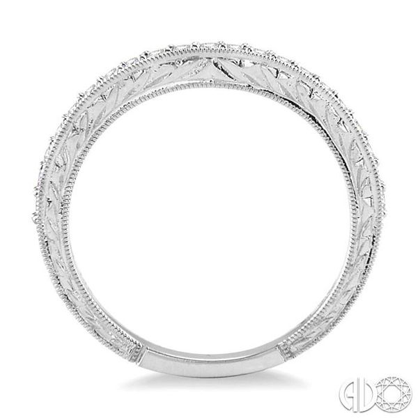 1/4 Ctw Diamond Wedding Band in 14K White Gold Image 3 Coughlin Jewelers St. Clair, MI
