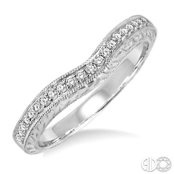 1/5 Ctw Round Cut Diamond Matching Wedding Band in 14K White Gold Coughlin Jewelers St. Clair, MI