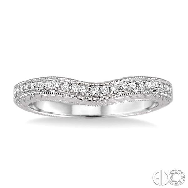 1/5 Ctw Round Cut Diamond Matching Wedding Band in 14K White Gold Image 2 Coughlin Jewelers St. Clair, MI