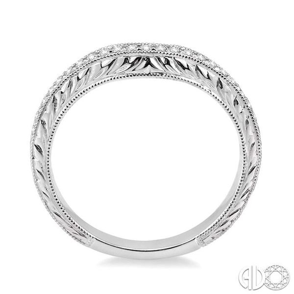1/5 Ctw Round Cut Diamond Matching Wedding Band in 14K White Gold Image 3 Coughlin Jewelers St. Clair, MI