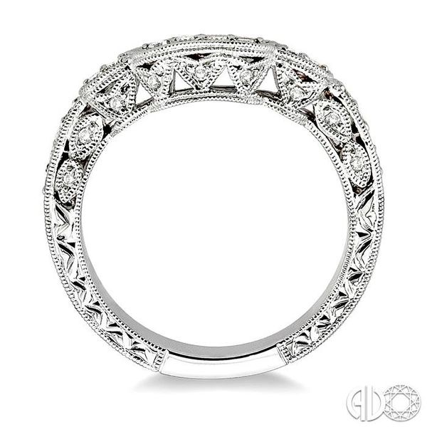 1/4 Ctw Diamond Matching Wedding Band in 14K White Gold Image 3 Coughlin Jewelers St. Clair, MI