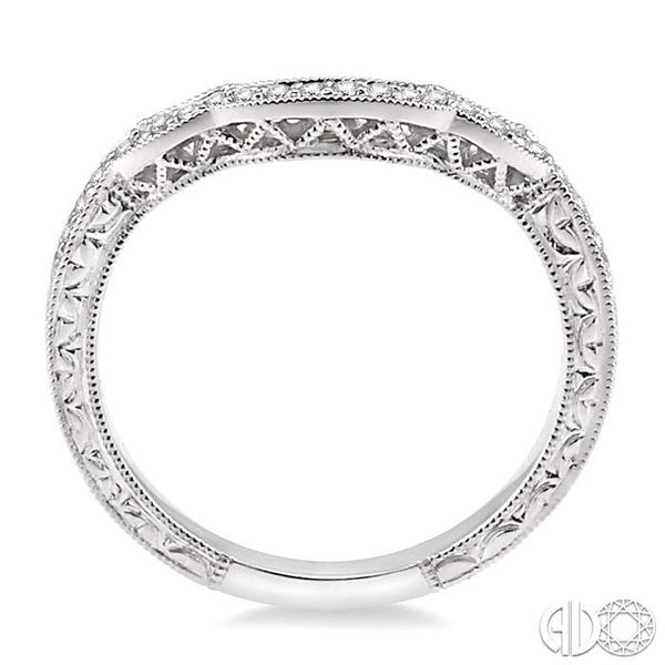 1/6 Ctw Round Cut Diamond Matching Wedding Band in 14K White Gold Image 3 Coughlin Jewelers St. Clair, MI