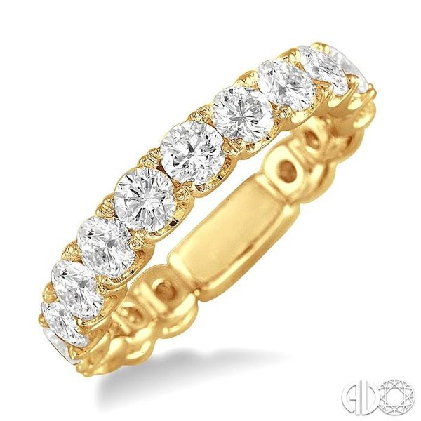 2 Ctw Diamond Matching Wedding Band in 18K Yellow Gold Coughlin Jewelers St. Clair, MI