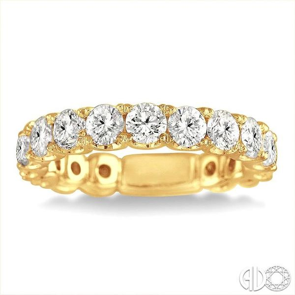2 Ctw Diamond Matching Wedding Band in 18K Yellow Gold Image 2 Coughlin Jewelers St. Clair, MI