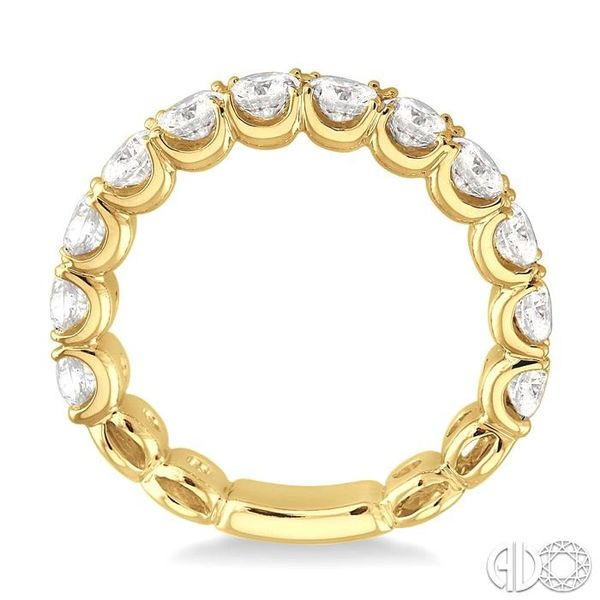 2 Ctw Diamond Matching Wedding Band in 18K Yellow Gold Image 3 Coughlin Jewelers St. Clair, MI