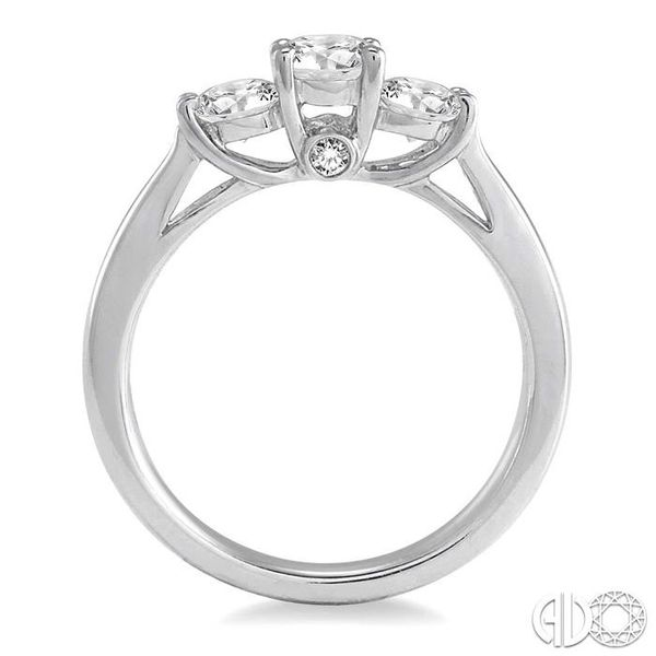 1 Ctw Diamond Engagement Ring with 3/8 Ct Round Cut Center Stone in 14K White Gold Image 3 Coughlin Jewelers St. Clair, MI