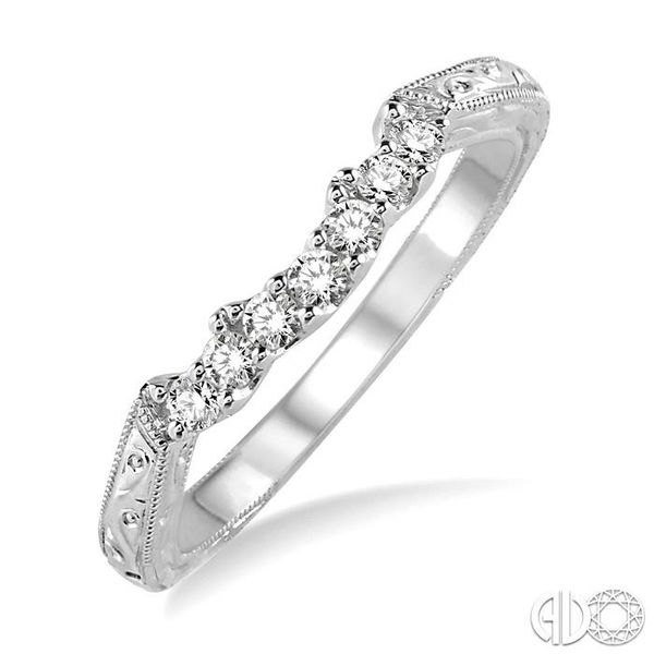 1/5 Ctw Round Cut Diamond Wedding Band in 14K White Gold Coughlin Jewelers St. Clair, MI