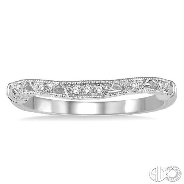 1/20 Ctw Vintage Inspired Round Diamond Wedding Band in 14K White Gold Image 2 Coughlin Jewelers St. Clair, MI