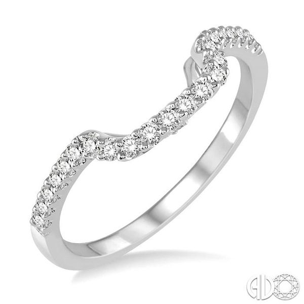 1/4 Ctw Round Cut Diamond Wedding Band in 14K White Gold Coughlin Jewelers St. Clair, MI