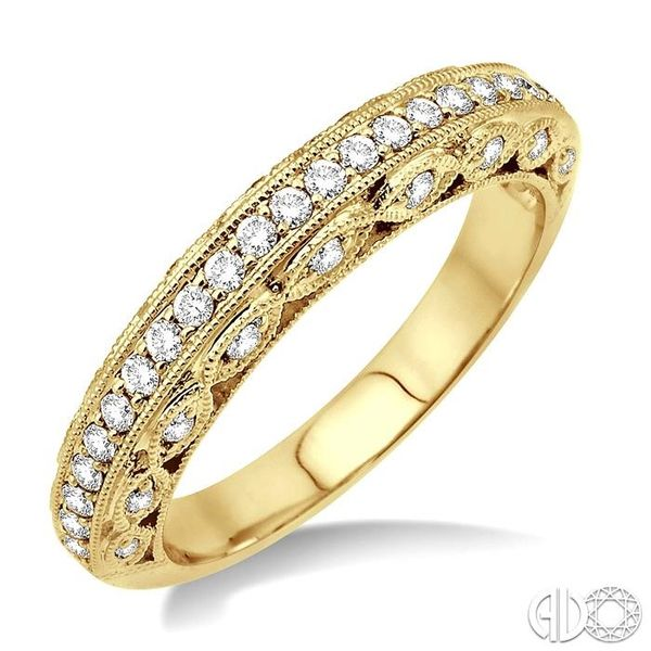 3/8 Ctw Diamond Matching Wedding Band in 14K Yellow Gold Coughlin Jewelers St. Clair, MI