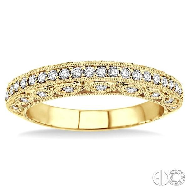 3/8 Ctw Diamond Matching Wedding Band in 14K Yellow Gold Image 2 Coughlin Jewelers St. Clair, MI