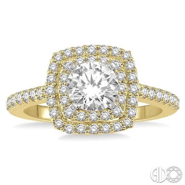 1 Ctw Round Cut Center Stone Diamond Ladies Engagement Ring in 14K Yellow and White Gold Image 2 Coughlin Jewelers St. Clair, MI
