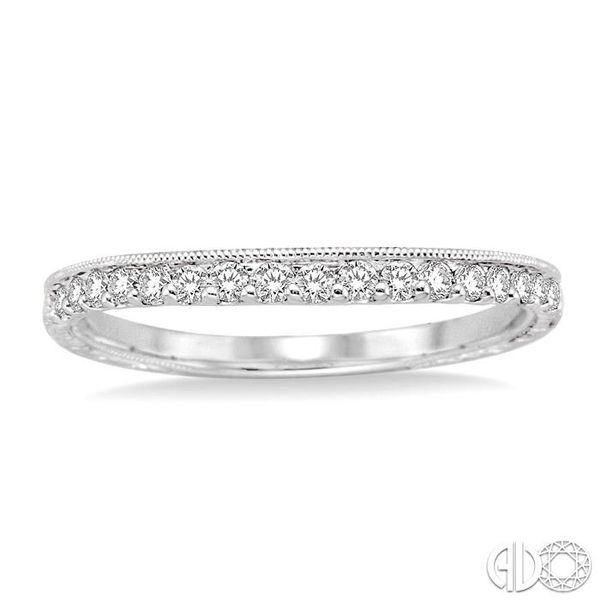 1/6 Ctw Round Cut Diamond Matching Wedding Band in 14K White Gold Image 2 Coughlin Jewelers St. Clair, MI