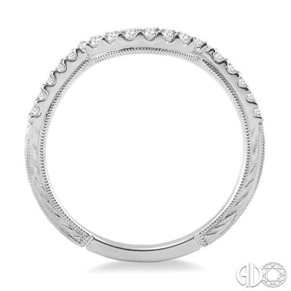 1/5 Ctw Round Cut Diamond Wedding Band in 14K White Gold Image 3 Coughlin Jewelers St. Clair, MI