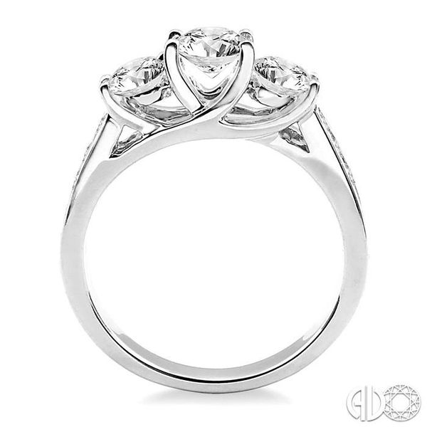 1 1/2 Ctw Diamond Engagement Ring with 1/2 Ct Round Cut Center Stone in 14K White Gold Image 3 Coughlin Jewelers St. Clair, MI