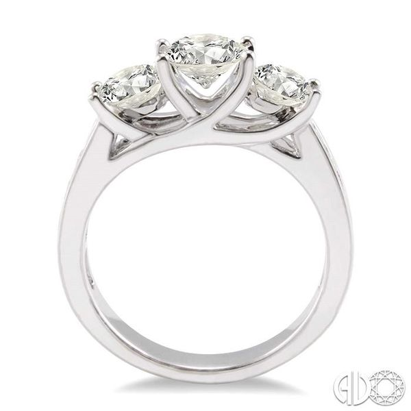 2 Ctw Diamond Engagement Ring with 3/4 Ct Round Cut Center Stone in 14K White Gold Image 3 Coughlin Jewelers St. Clair, MI