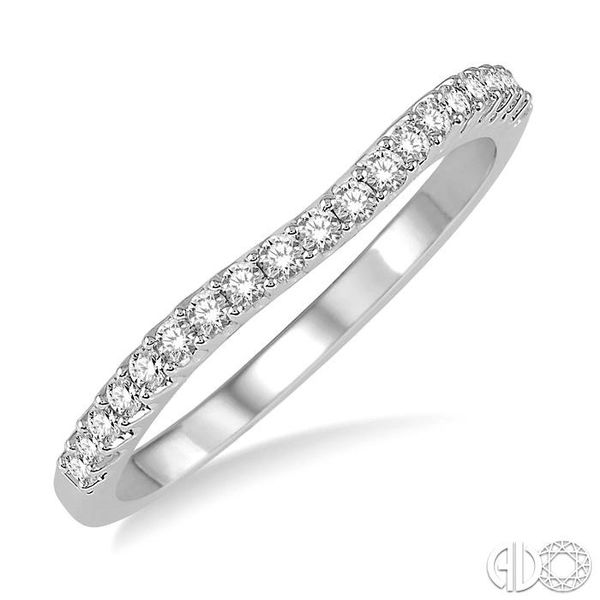 1/5 Ctw Round Diamond Wedding Band for Her in 14K White Gold Coughlin Jewelers St. Clair, MI