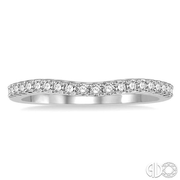 1/5 Ctw Round Diamond Wedding Band for Her in 14K White Gold Image 2 Coughlin Jewelers St. Clair, MI