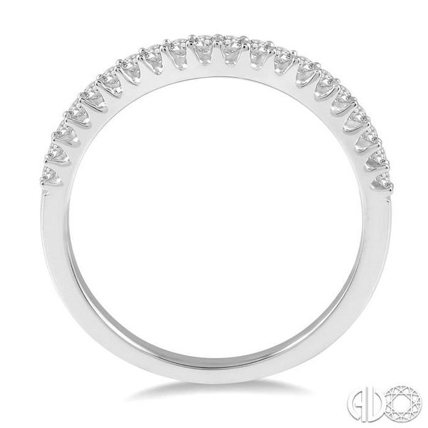 1/5 Ctw Round Diamond Wedding Band for Her in 14K White Gold Image 3 Coughlin Jewelers St. Clair, MI