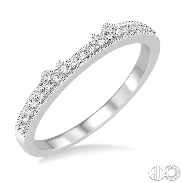 1/6 Ctw Round Cut Diamond Wedding Band in 14K White Gold Coughlin Jewelers St. Clair, MI
