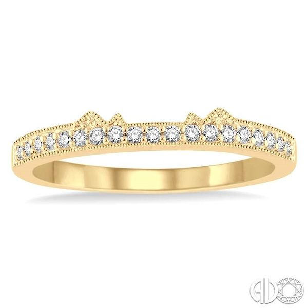 1/6 Ctw Round Cut Diamond Wedding Band in 14K Yellow Gold Image 2 Coughlin Jewelers St. Clair, MI