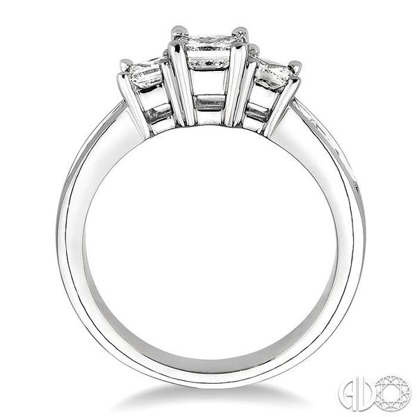 3 Ctw Nine Stone Princess Cut Diamond Engagement Ring in 14K White Gold Image 3 Coughlin Jewelers St. Clair, MI